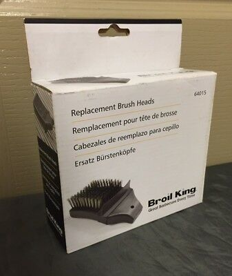 Broil King BBQ 64015 Grill Brush Replacement Heads 2-Pack Brand New