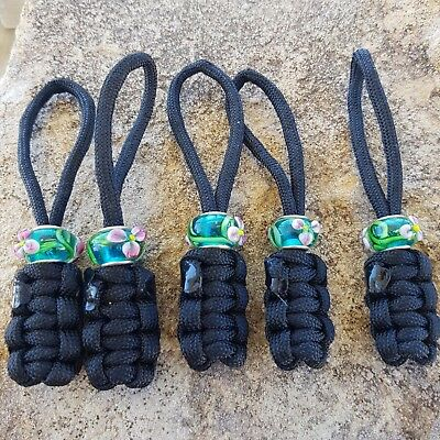 Archery Bow Sling 550 Paracord Black zipper pulls