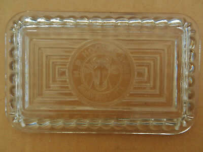 HP Hood & Sons ad Glass Cover for Butter Dish Mint Fridge lid milk bottle int