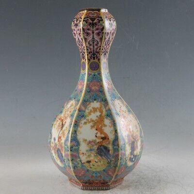 Chinese Enamel Porcelain Hand Painted Vase Made During The Qianlong Period FLC18