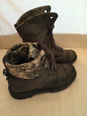 """DR. MARTENS """"The Original"""" Air Cushion Sole Brown Leather Boots Size 10"""