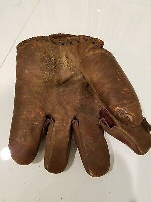 """Early Old Antique 1920s possible 1930's 1"""" Web  Leather Baseball Glove"""