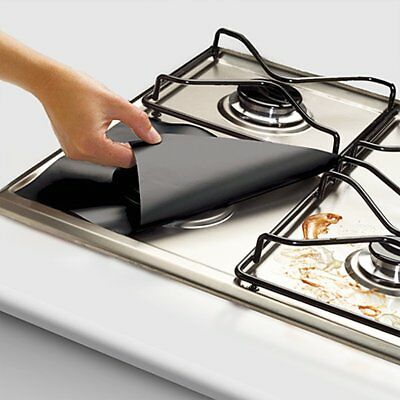 Teflon coated glass fiber cloth Stovetop protector Gas stove cleaning pad