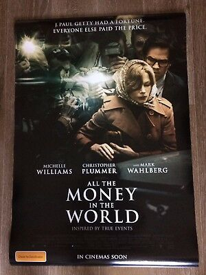 All The Money In The World One Sheet Movie Poster