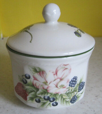 Lovely Churchill Victorian Orchard Lidded Sugar Bowl Fruits Pattern Tableware