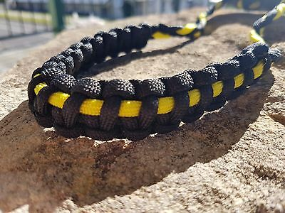 Archery Bow Sling 550 Paracord Black & yellow   +3 zipper pulls