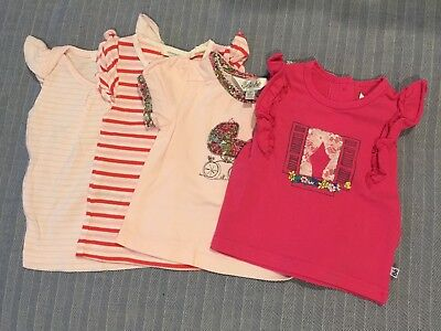 Various baby t shirts size 00 x 4, pure baby, Bebe and country road