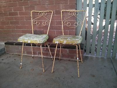 Vintage retro 50's 60's Wrought Iron Chairs Project