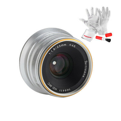7artisans 25mm/f1.8 Manual Fixed Lens 12 Blades for Sony Emount (Silver)