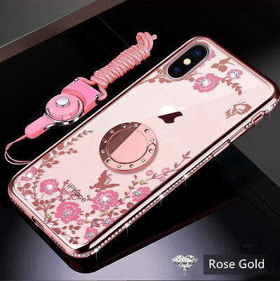 For iPhone 678 Plus XS XR XS Max Bling Shockproof Magnet Silicone Cover Case