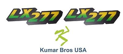 New Lower Hood Set of 2 Decals Replaces M126051 Fits john Deere LX277 Low S/N