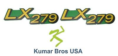 New Lower Hood Set of 2 Decals Replaces M146007 Fits john Deere LX279 Up S/N