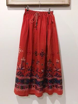 💃🏼 Exquisite South American Embroidered Vintage Bohemian Peasant Maxi Skirt