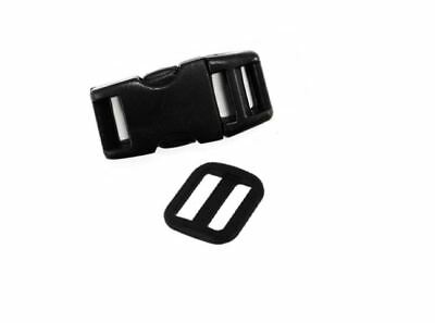 Choice of Black Quick Side Release Clip Buckle Slider for 10 mm webbing 1, 5,10