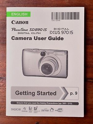 Canon Power Shot SD890 Digital Ixus 970 IS Elph instruction manual user guide