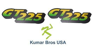 Kumar Bros USA Lower Hood Set of 2 Decals Replaces M126055 Fits John Deere GT225