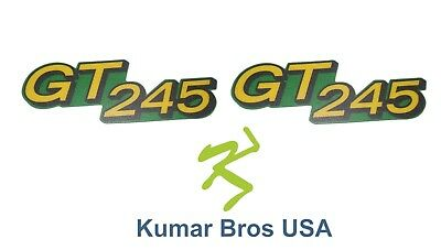 Kumar Bros USA Lower Hood Set of 2 Decals Replaces M146426 Fits John Deere GT245