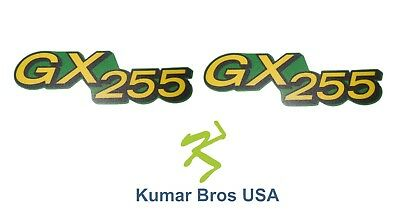 Kumar Bros USA Lower Hood Set of 2 Decals Replaces M149592 Fits John Deere GX255