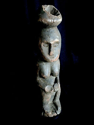 EXCELLENT !!!Heavy old wooden ancestor figure SUMBAWA ISL. Indonesia