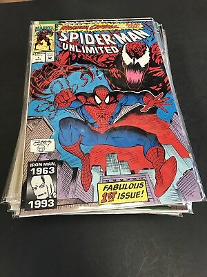 Spider-Man Unlimited 1-22 Complete Set High Grade Vf/nm Most Being 9.2 Or Better