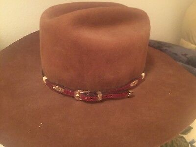 USA AMERICAN HAT COMPANY BROWN WESTERN COWBOY HAT Size 7 1/4  Long Oval