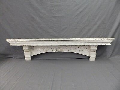 Lrg Antique Window Pediment Header Corbel Shelf Vtg Shabby Victorian Old 490-17P