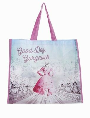 TJ MAXX Good Day Gorgeous Shopping Bag Two Sided Reusable Eco Travel Tote NEW