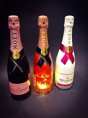 Moet Chandon Imperial Rose Champagner Set 3x 0,75l Flasche 12% Vol Ice Nectar