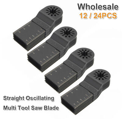 12-24PCS 32mm Saw Blades Teeth Carbon Steel Multi Tool Scale Oscillating Cutter