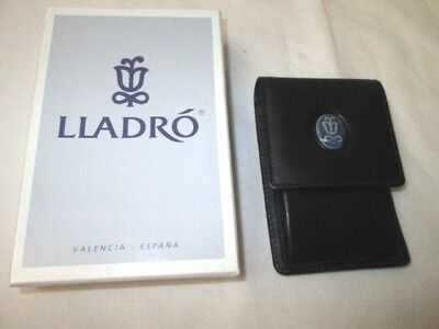 Lladro Collector's Society Leather Key Holder Snap Pouch w/Box