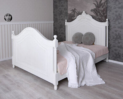 bettgestell landhausstil bett 160x200 ehebett weiss holzbett jugendstil eur 549 00 picclick de. Black Bedroom Furniture Sets. Home Design Ideas