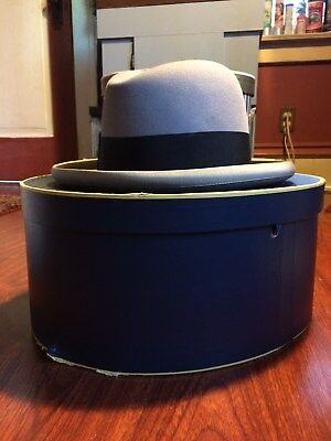 Vintage Herbert Johnson/Brooks Brothers bowler hat. In original box! Beautiful!