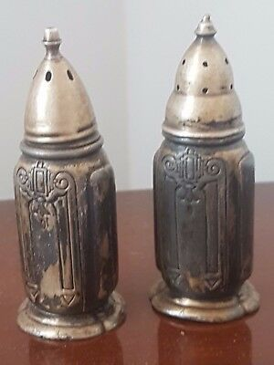 Pair: Salt & pepper - Sterling silver - Excellent condition