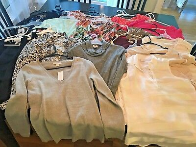 Lot of Women's size small tops, 23 pieces total, Old Navy & NY&CO, SS LS tanks