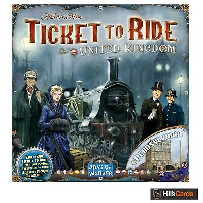 United Kingdom + Pennsylvania Expansion for Ticket To Ride Board Game: UK Trains
