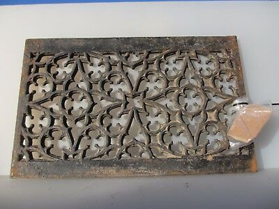Victorian Iron Floor Grate Grill Manhole Cover Drain Antique Church Gothic 24x15