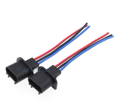 2Pcs Wire Harness Pigtail Male 9008 H13 Head 2x h13 9008 male plug headlight pigtail socket connector $5 56