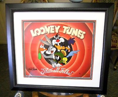 Warner Bros. Animation Art, Looney Tunes That's All Folks, Artist Signed, 42/50