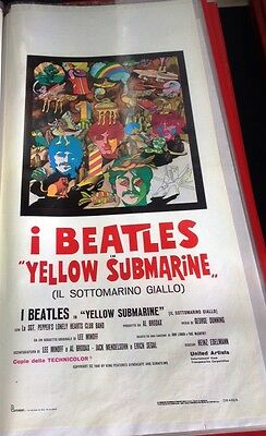 Beatles Yellow Submarine Locandina  italiana 33X70