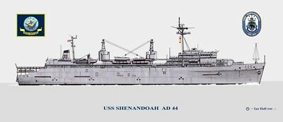 USS SHENANDOAH AD 44 Decal US NAVY Military USN S01