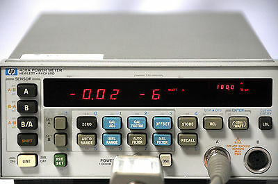 HP Agilent Keysight 438A Dual Channel Power Meter Tested and Working w 11730A