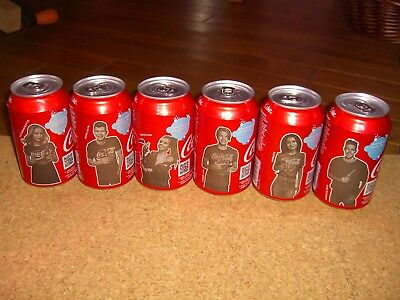 Six 330 ml  Coca Cola cans full set Baltic States, bottoms opened, 2017