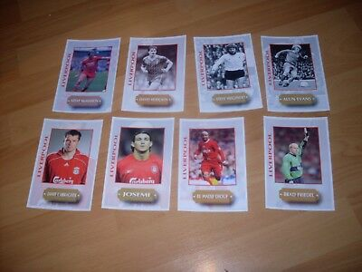 8 liverpool postcard of ex players