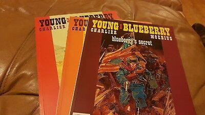 YOUNG BLUEBERRY 1, 2 & 3 (Comcat 1st editions) MOEBIUS CHARLIER