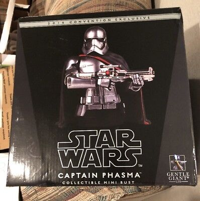 SDCC 2016 Exclusive Star Wars Captain Phasma Gentle Giant Mini Bust Great Gift