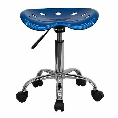 Flash Furniture LF-214A-BRIGHTBLUE-GG Vibrant Blue Tractor Seat Office Chair