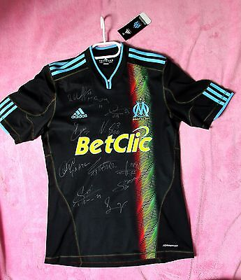 FC Olympique Marseille Football Shirt / Jersey SIGNED Player Issue