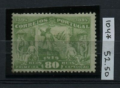 PORTUGAL 1894 Scott 104 Afinsa 105 MH CV$52.50