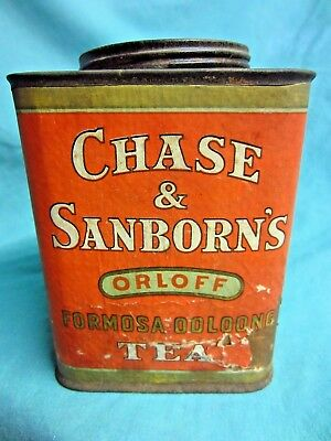 Antique / Vintage Chase & Sanborn's Orloff Tea Can