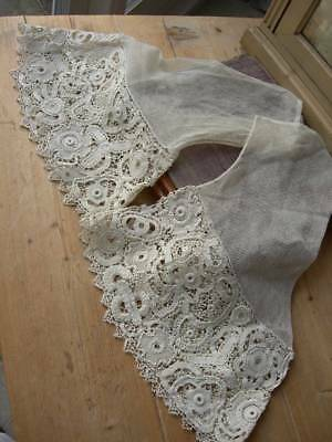 2 antique Victorian Irish crochet lace sleeves 1900 - Scottish country estate